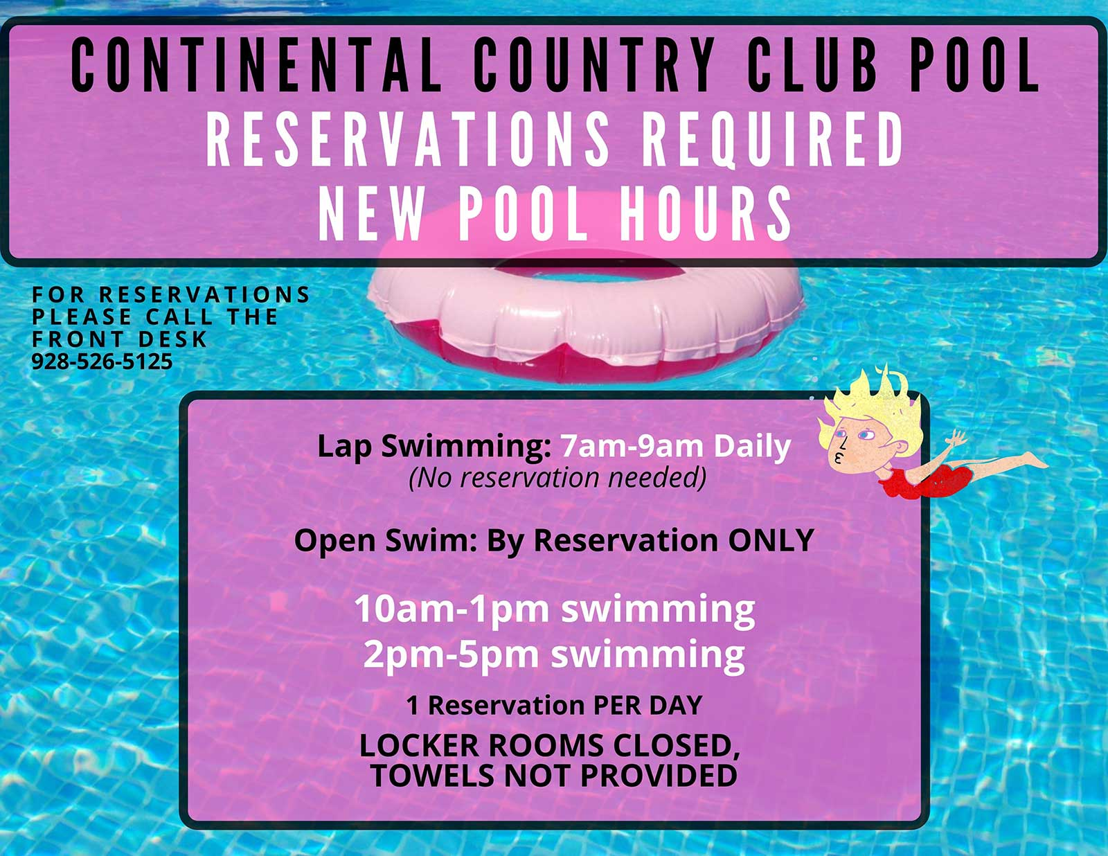 Country Club Pool Hours