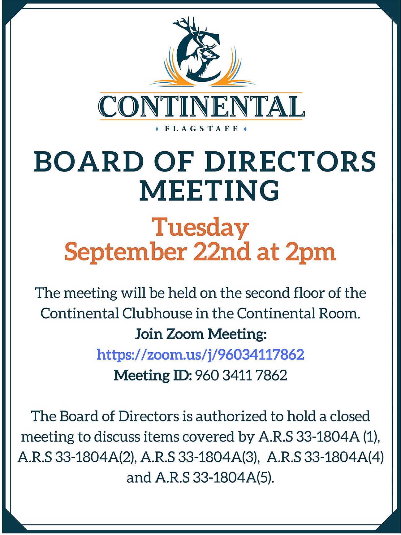 September 22nd Board Meeting