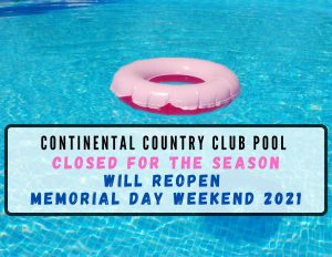 CCC Pool Closed