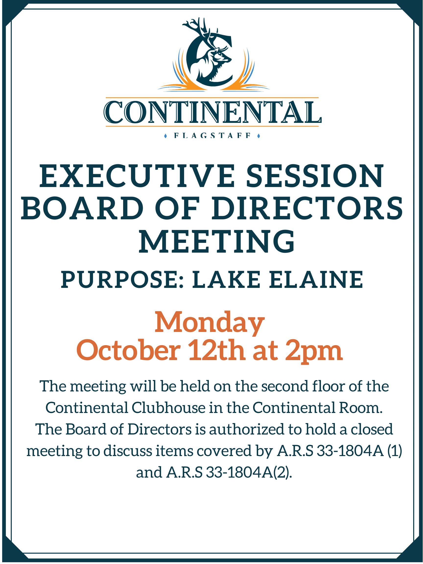 Board of Directors Meeting